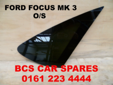 FORD FOCUS  MK 3  DRIVERS  SIDE REAR 1/4 GLASS  / WINDOW  ( DARK TINT )   2005 - 2006  2007  USED